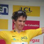 Tour de l`Avenir - der Etappensieger des Zeitfahrens und Gesamtsieger Romain Sicard