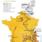 Die Karte der Tour de France 2010