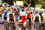 Italiens Landesmeister Paolo Bettini bejubelt seinen Sieg (Quelle: http://www.lavuelta.com)