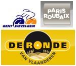 Die Harten Hunde von Gent-Wevelgem, Flandern-Rundfahrt und Paris-Roubaix 2010