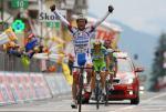 Scarponi gewinnt Mortirolo-Etappe, überragende Liquigas-Leistung bringt Basso ins Rosa Trikot