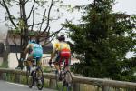 6. Etappe Critérium du Dauphiné - Alberto Contator und Janez Brajkovic kurz vor dem Ziel in Alpe d´Huez