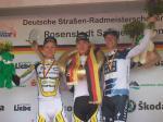 Das Podium der deutschen Meisterschaft im Zeitfahren (v.l.) Patrick Gretsch, Tony Martin, Jens Voigt (© LiVE-Radsport.com)