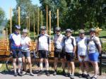 Gruppe Achim vor dem Weinschiff in Neumagen-Drohn