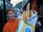 Andrea beim grossen Broteinkauf