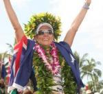 Mirinda Carfrea vor Schweizerin Caroline Steffen beim Ironman Hawaii (Foto: Veranstalter)