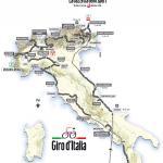 Die Karte des Giro d´Italia 2011