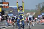 Thomas De Gendt gewinnt die 1. Etappe von Paris-Nizza wenige Meter vor dem Hauptfeld (Foto: www.letour.fr)
