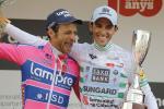 Aberto Contador gewinnt die Volta a Catalunya (links der zweitplazierte Michele Scarponi) - Dumoulin zum zweiten Mal Etappensieger