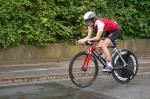 Astrid Zunner-Ferstl auf der Radstrecke (Foto: Roland Hindl)