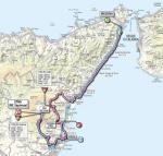 Streckenverlauf Giro d´Italia 2011 - Etappe 9