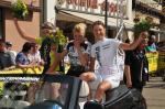 Ehrung der Podiums-Fahrerinnen: Nathalie Lamborelle, Jesse Lysann und Daniela Gass