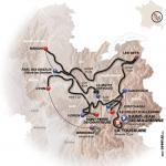 Die Streckenkarte des 63. Critérium du Dauphiné