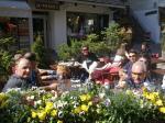 Kaffee in der Flaniermeile von Megève
