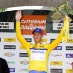 Lars Boom gewinnt den Prolog des Critérium du Dauphiné und trägt das erste Gelbe Trikot (Foto: www.letour.fr)