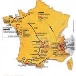 Die Streckenkarte der Tour de France 2011