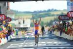 Luis Leon Sanchez gewinnt die 6. Etappe der Tour de France 2011 in Saint-Flour (Foto: www.letour.fr)