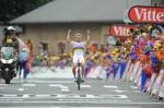 Weltmeister Thor Hushovd jubelt über seinen Sieg auf der 13. Etappe der Tour de France (Foto: www.letour.fr)