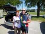 Andrea dankt Nick für die Organisation des SA-Day