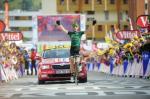 Pierre Rolland sorgt auf der 19. Etappe in Alpe d´Huez für den ersten französischen Sieg bei der Tour de France 2011 (Foto: www.letour.fr)