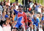 Der neue Weltmeister Mark Cavendish bejubelt seinen Sieg (Foto: copenhagen2011.dk)