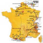 Die Karte mit allen Etappen der Tour de France 2012