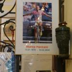 Erinnerung an Marco Pantani in der Kapelle Madonna del Ghisallo