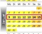 Radrennen vom 9. bis 15. Januar 2012
