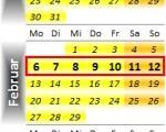 Radrennen vom 6. bis 12. Februar 2012