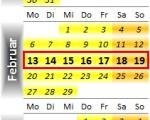 Radrennen vom 13. bis 19. Februar 2012
