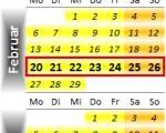 Radrennen vom 20. bis 26. Februar 2012