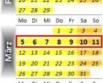 Radrennen vom 5. bis 11. März 2012