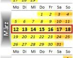Radrennen vom 12. bis 18. März 2012
