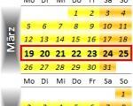 Radrennen vom 19. bis 25. März 2012