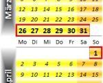 Radrennen vom 26. März bis 1. April 2012