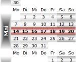 Radrennen vom 14. bis 20. Mai 2012