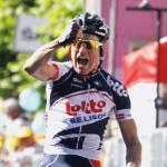 Spannende Ausreißer-Etappe beim Giro endet mit Bak als Sieger und Golas im Bergtrikot