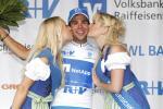 Michael Schwarzmann erobert das Trikot des besten Nachwuchsfahrers in Bayern (Foto: Roth/Team NetApp)