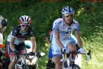 Tour de France 8. Etappe Côte de la Caquerelle - die Verfolger - Tony Gallopin und der spätere Etappensieger Thibaut Pinot