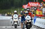 Alejandro Valverde feiert den Sieg bei der Bergankunft in Peyragudes auf der 17. Etappe der Tour de France 2012 (Foto: letour.fr)