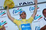 André Schulze im gelben Trikot der Tour de l´Ain (Foto: Etienne Garnier/Team NetApp)