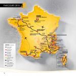 Die Streckenkarte mit allen Etappen der Tour de France 2013