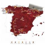 Die Streckenkarte mit allen Etappen der Vuelta a España 2013