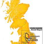 Grand Départ der Tour de France 2014: Karte der Etappen in England