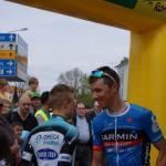 Der Sieger der 2. Etappe, Ramunas Navadauskas, am Start in Payerne