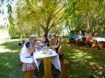Picknickhalt in der freien Natur