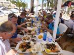 Das verdiente Menü im Hafen von Cala d´Or