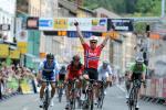 Edvald Boasson Hagen gewinnt auf der 3. Etappe des Critérium du Dauphiné den Sprint (Foto: letour.fr/Veranstalter)