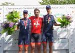 Martin Elmiger, Fabian Cancellara, Reto Hollenstein (v.l.n.r. / Foto: Swiss Cycling)