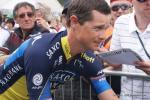 Nicolas Roche (Team Saxo-Tinkoff) am Start in Zernez